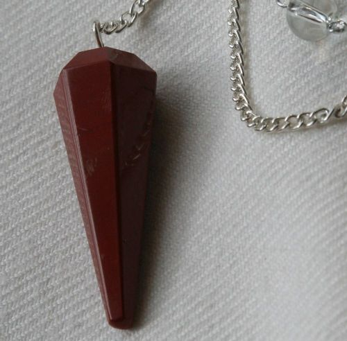 Red Jasper Crystal Gemstone Dowsing Pendulum